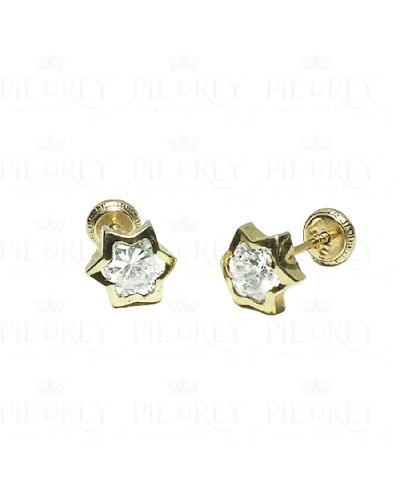Earrings Star in Gold