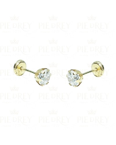 Earrings Cubic Zircon in Gold