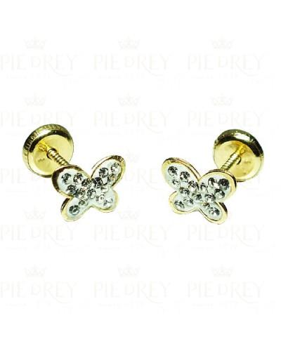 Earrings Butterfly in Gold